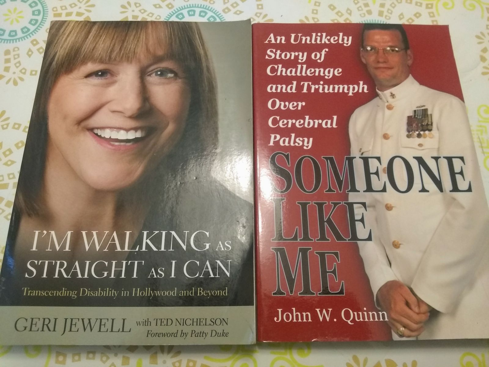 Cerebral Palsy Biography 2 Book Lot