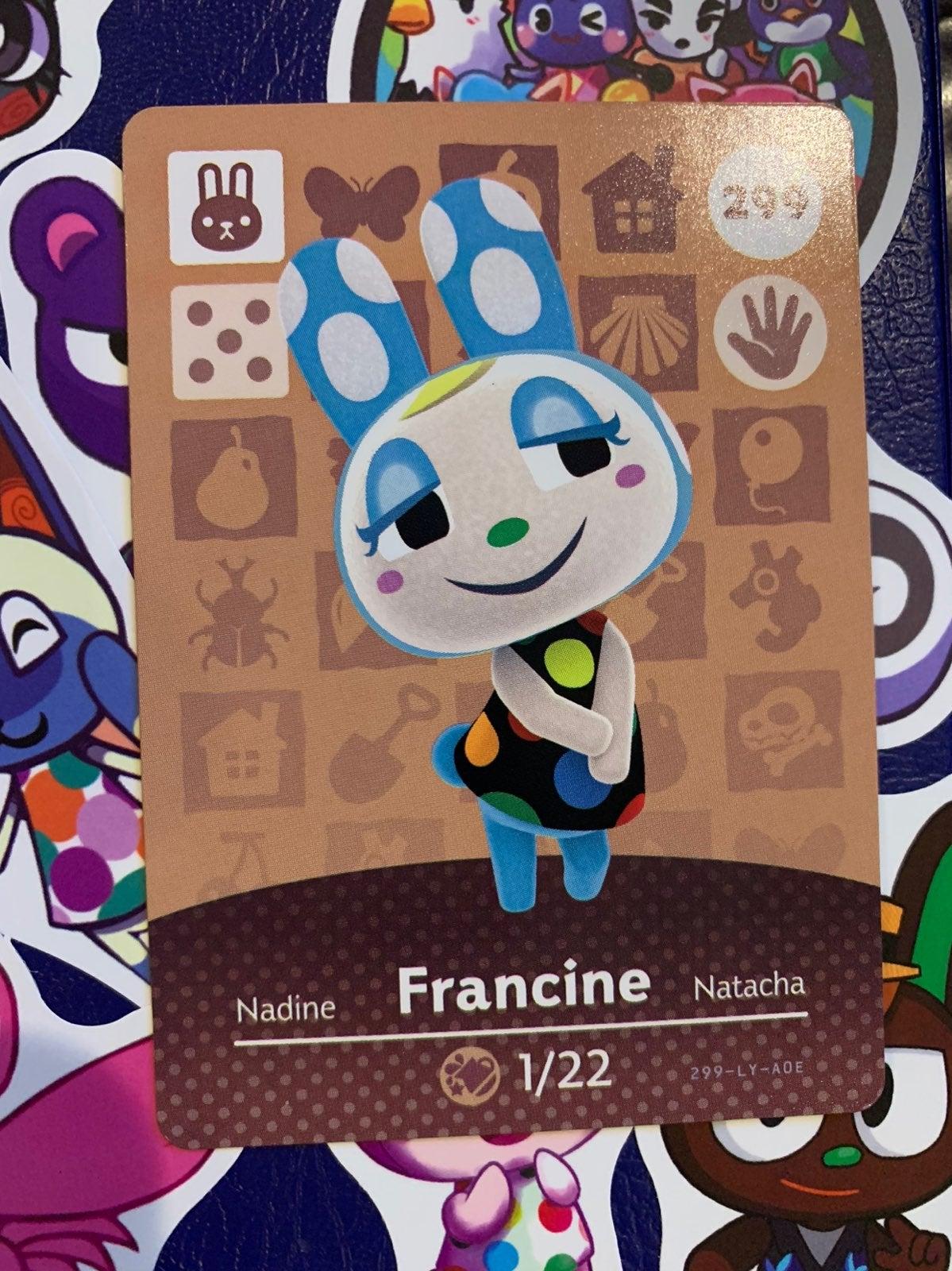 Francine Animal Crossing Amiibo Card