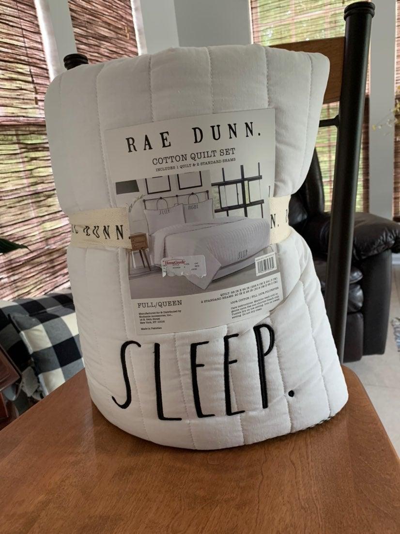 Rae Dunn Sleep Quilt  Full/Queen Set