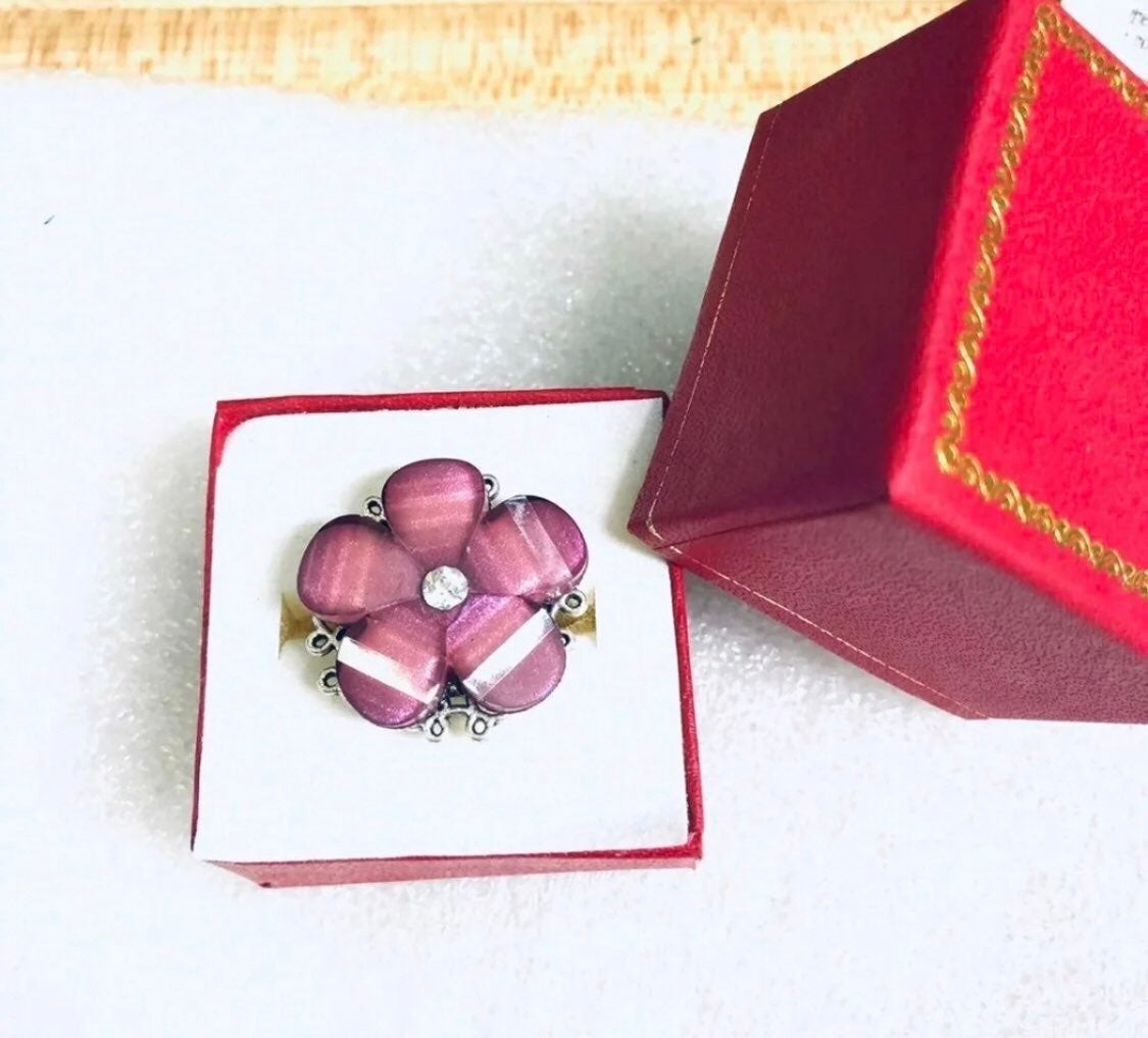 Adjustable purple ring forget me not
