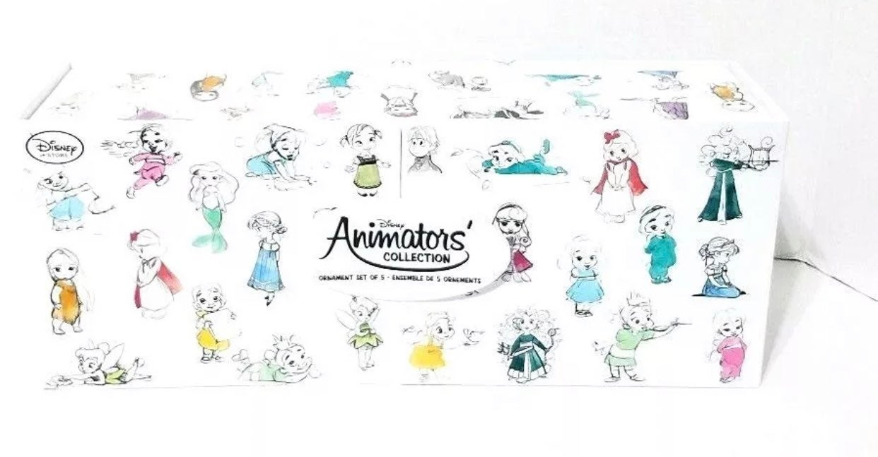 Animators collection ornaments set