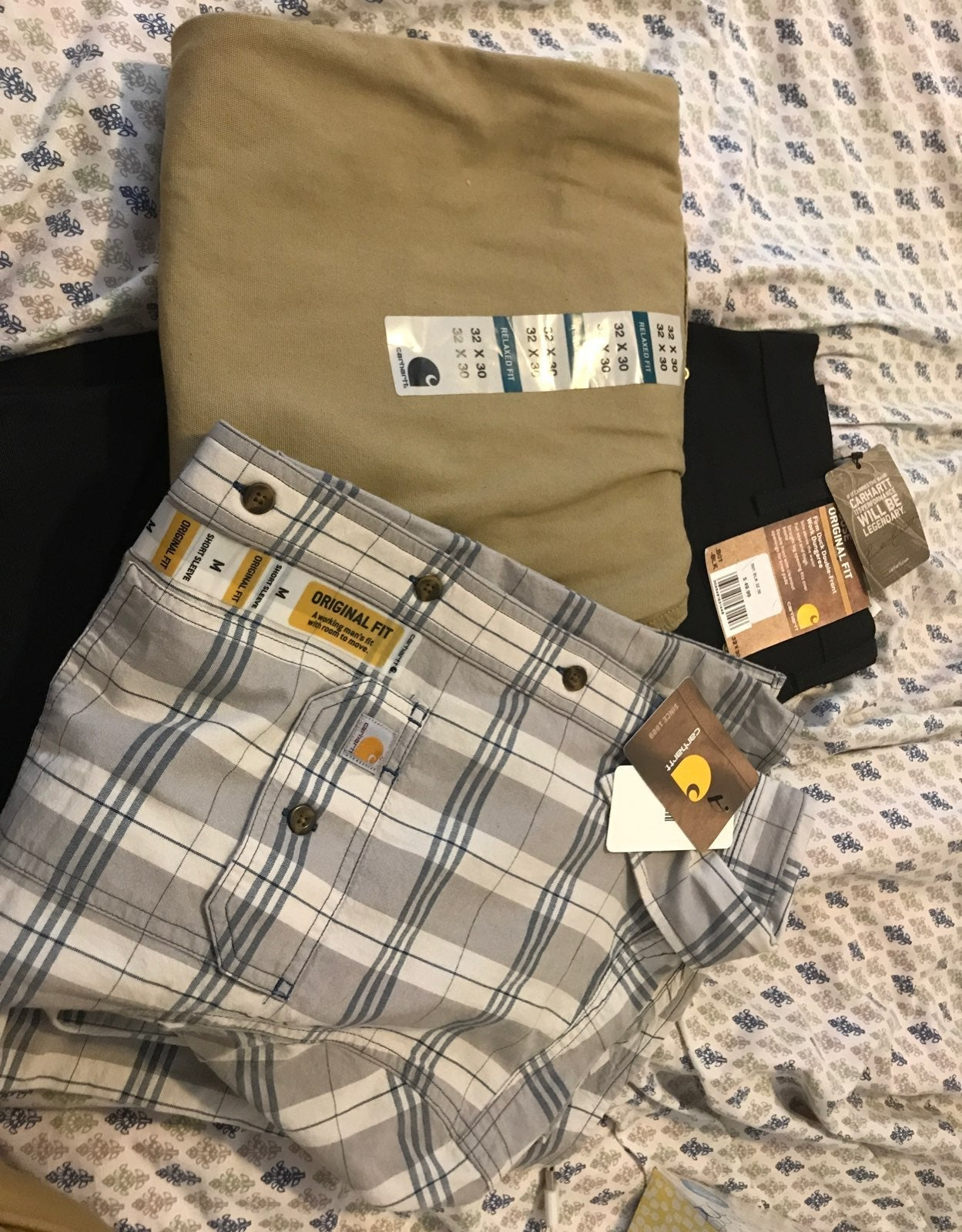 Carhartt pants and workshirt bundle