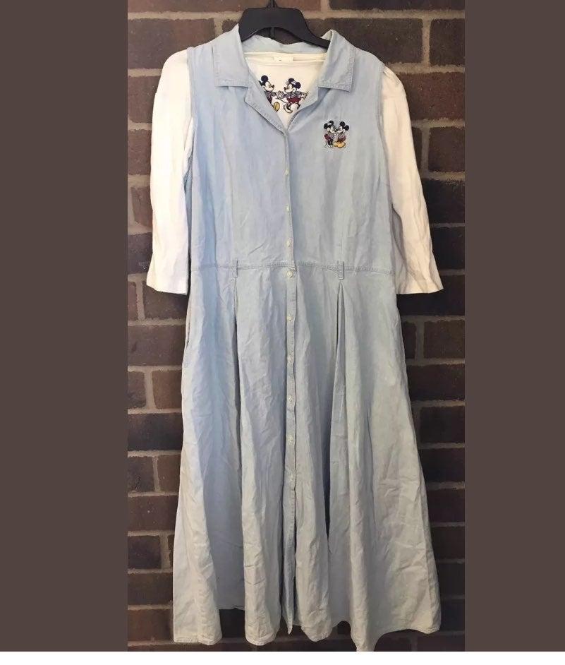 Disney Mickey Denim Jumper Dress 2Pc. XL