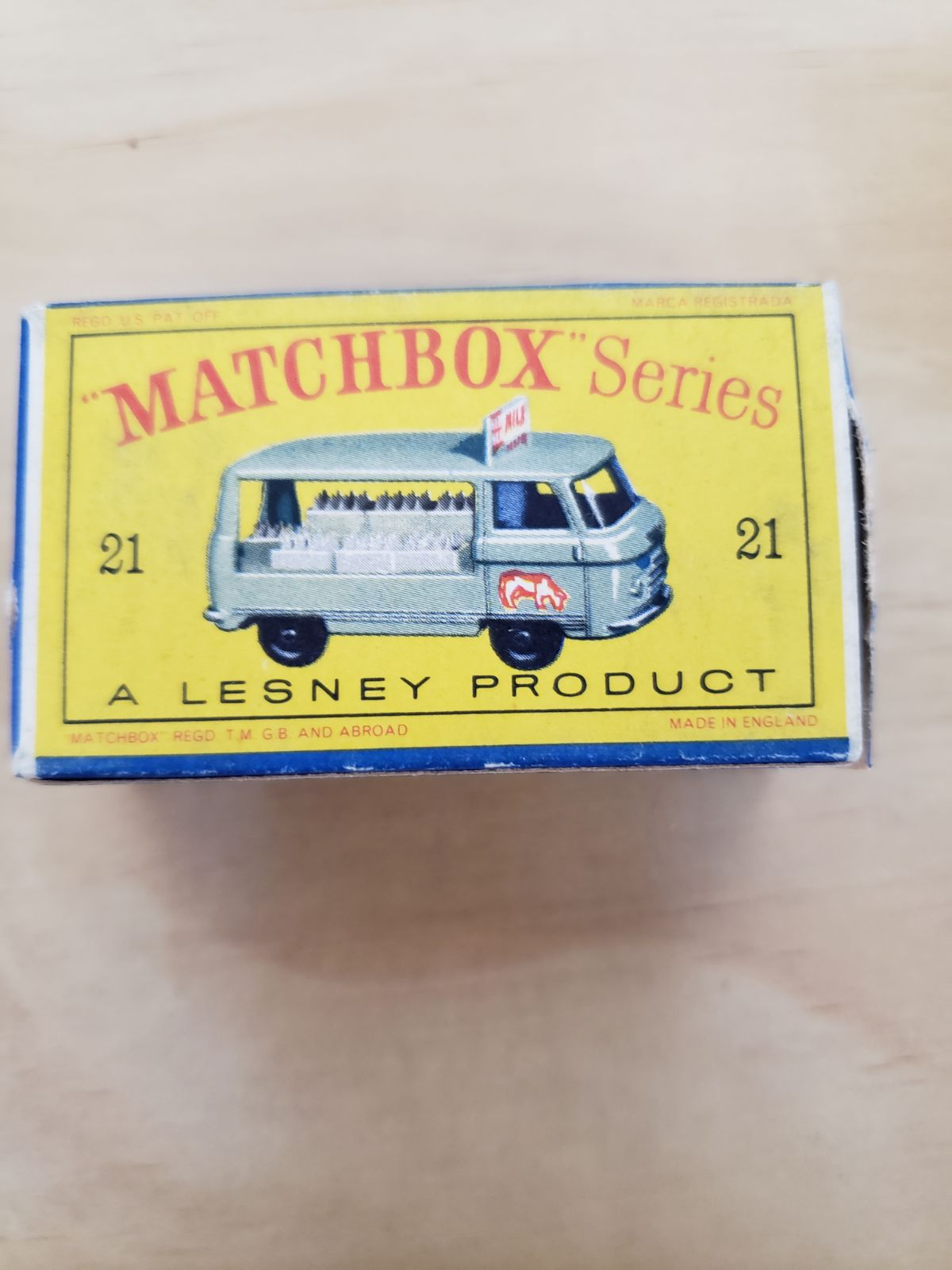 Matchbox Car Milk Delivery Truck