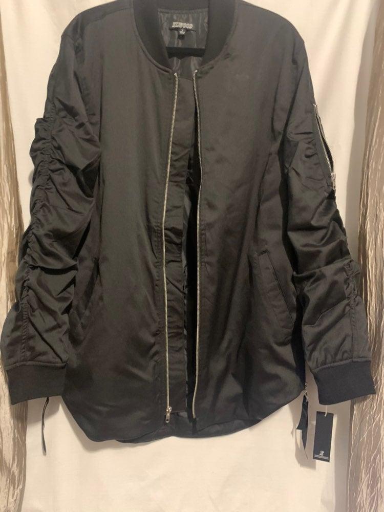 Mens Black Elwood Bomber Jacket