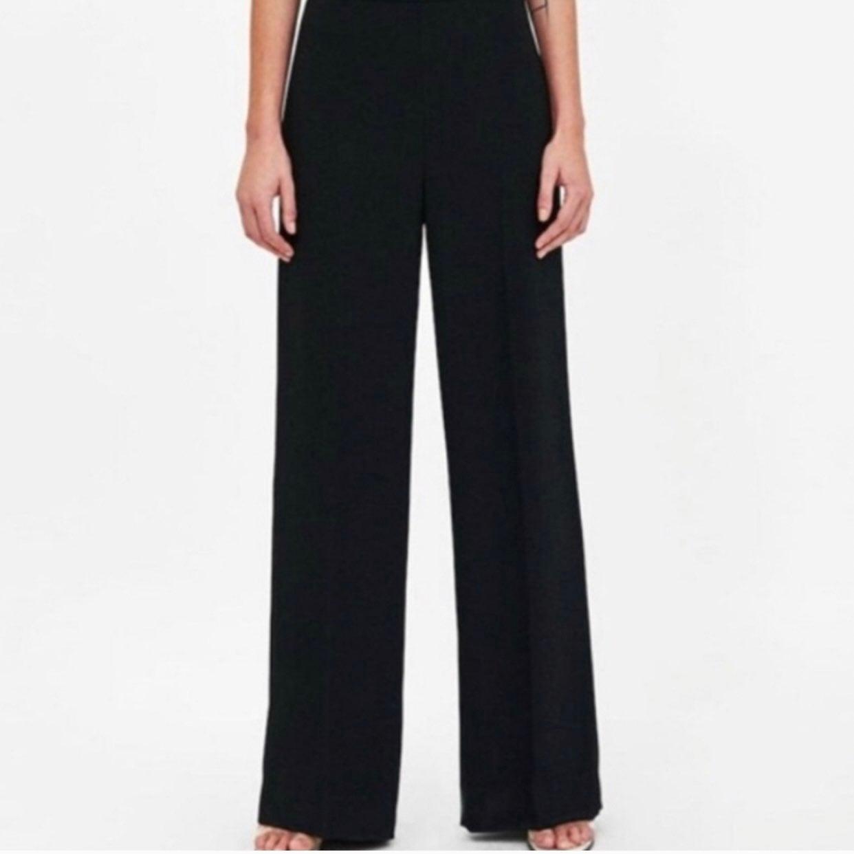 Zara Black Lightweight Flare Business Ca