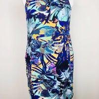 d2dd1b6e7ac NY C Women s S Tropical Leaf Print Dress