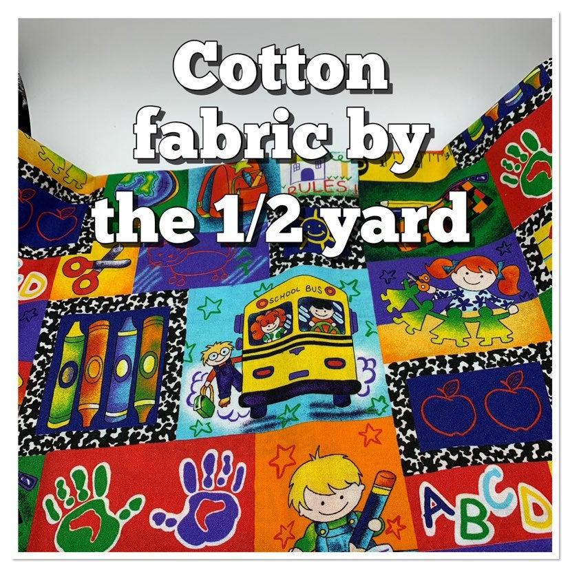 Cotton Fabric / School / Teacher/ quilti