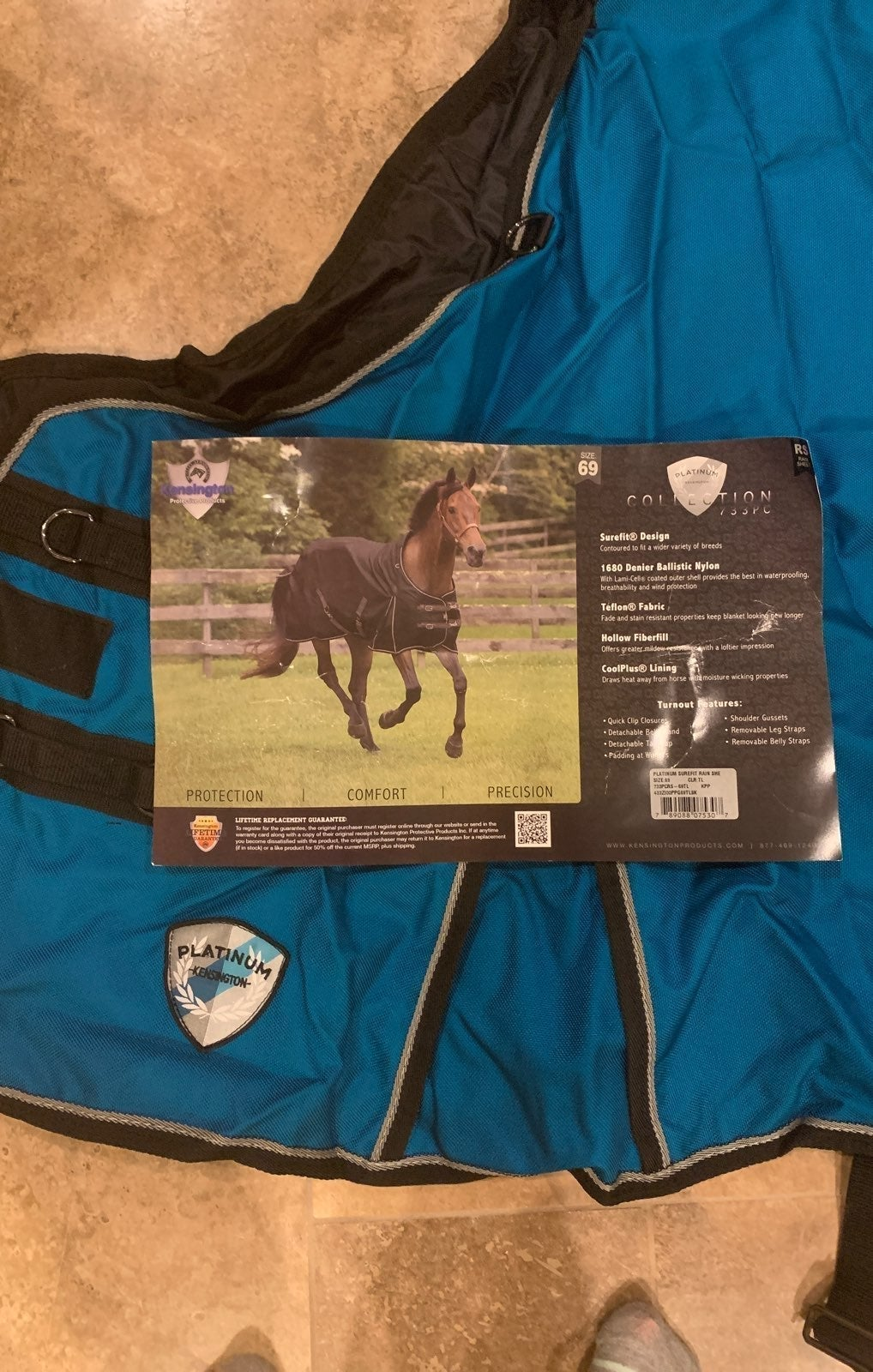 kensington platinum horse blanket 69 NEW