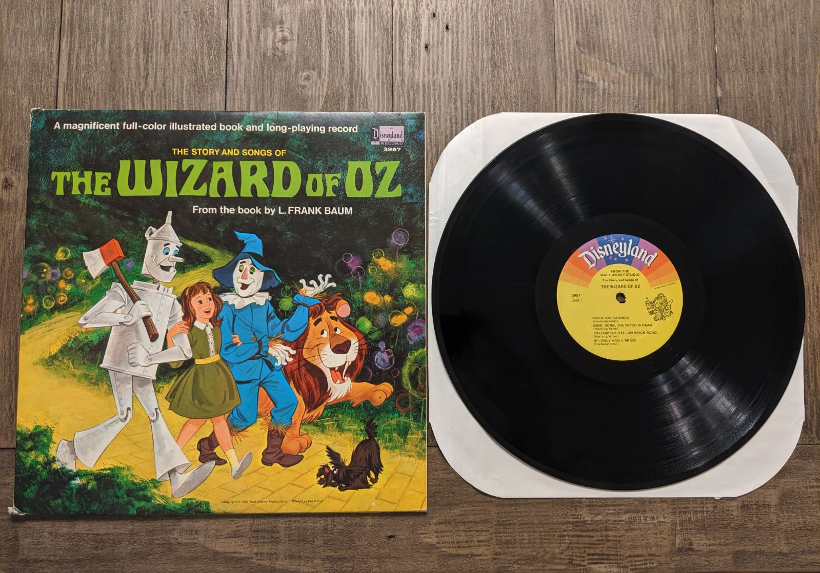 The Wizard of Oz Story & Song Vinyl Book