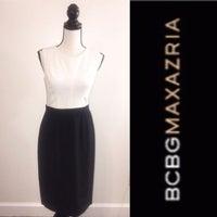 4bb6220af089 BCBGMaxAzria Black White Career Dress 4