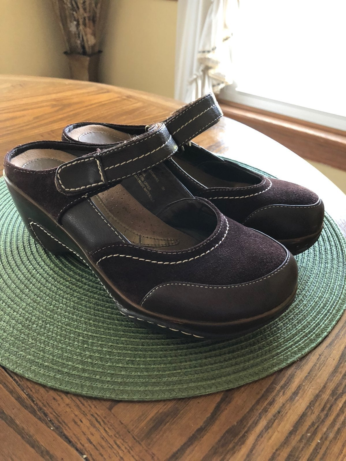 Women's Bass Suede/Leather Wedge Slip On