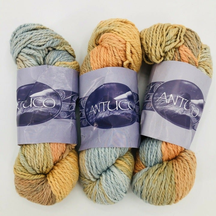 3 Antuco Yarn 100% Cotton Hank - Chile