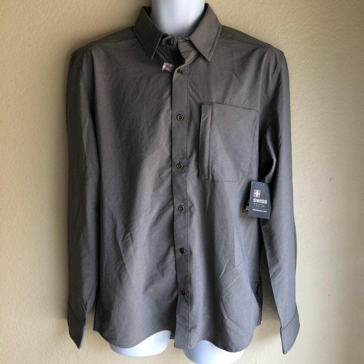 SwissTech Gray Men's Shirt Medium NWT