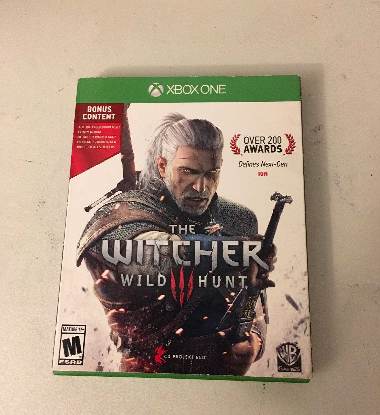 "THE WITCHER ""WILD HUNT"" for Xbox one"