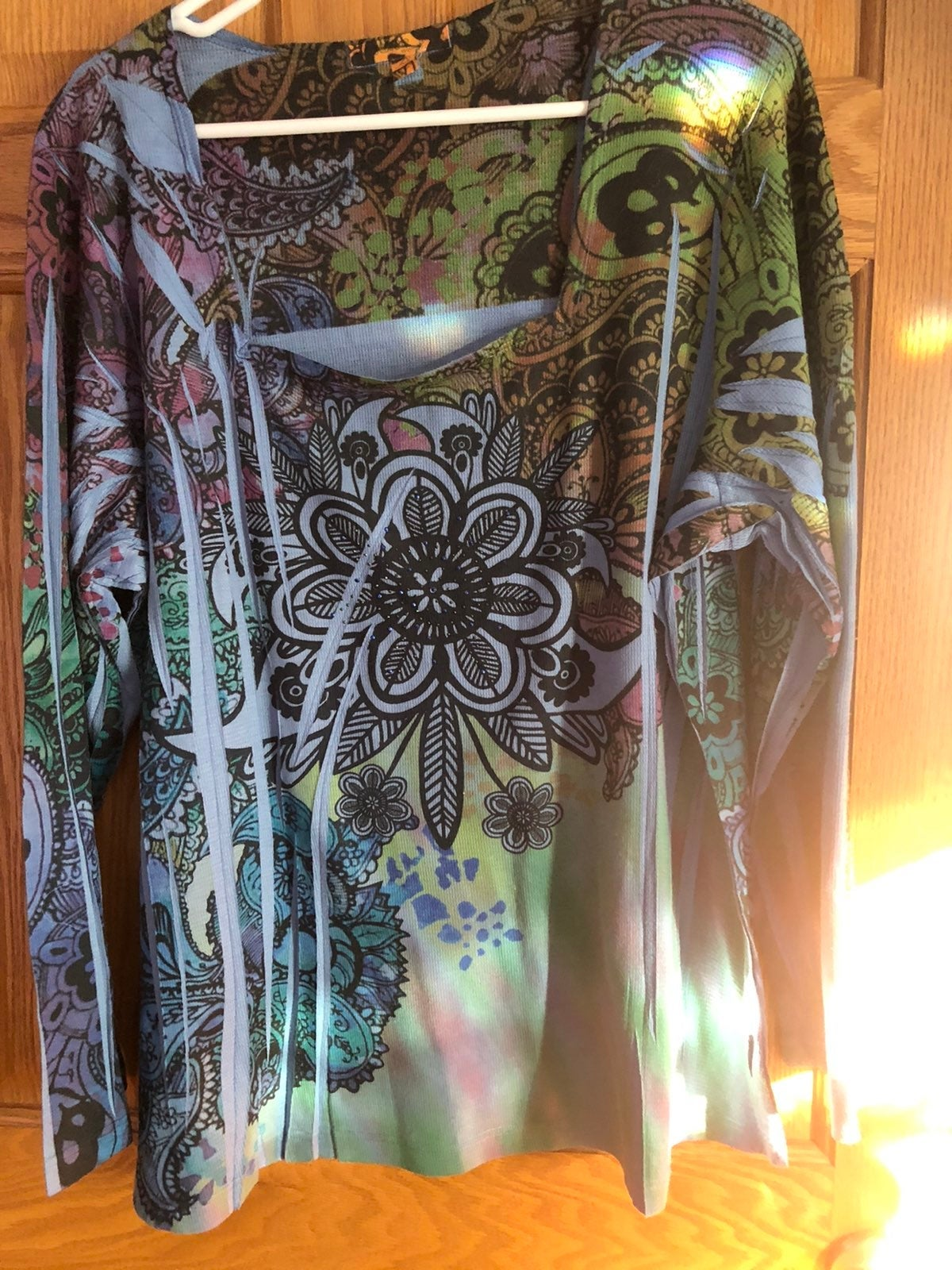 NWOT ONE WORLD Top size 2x