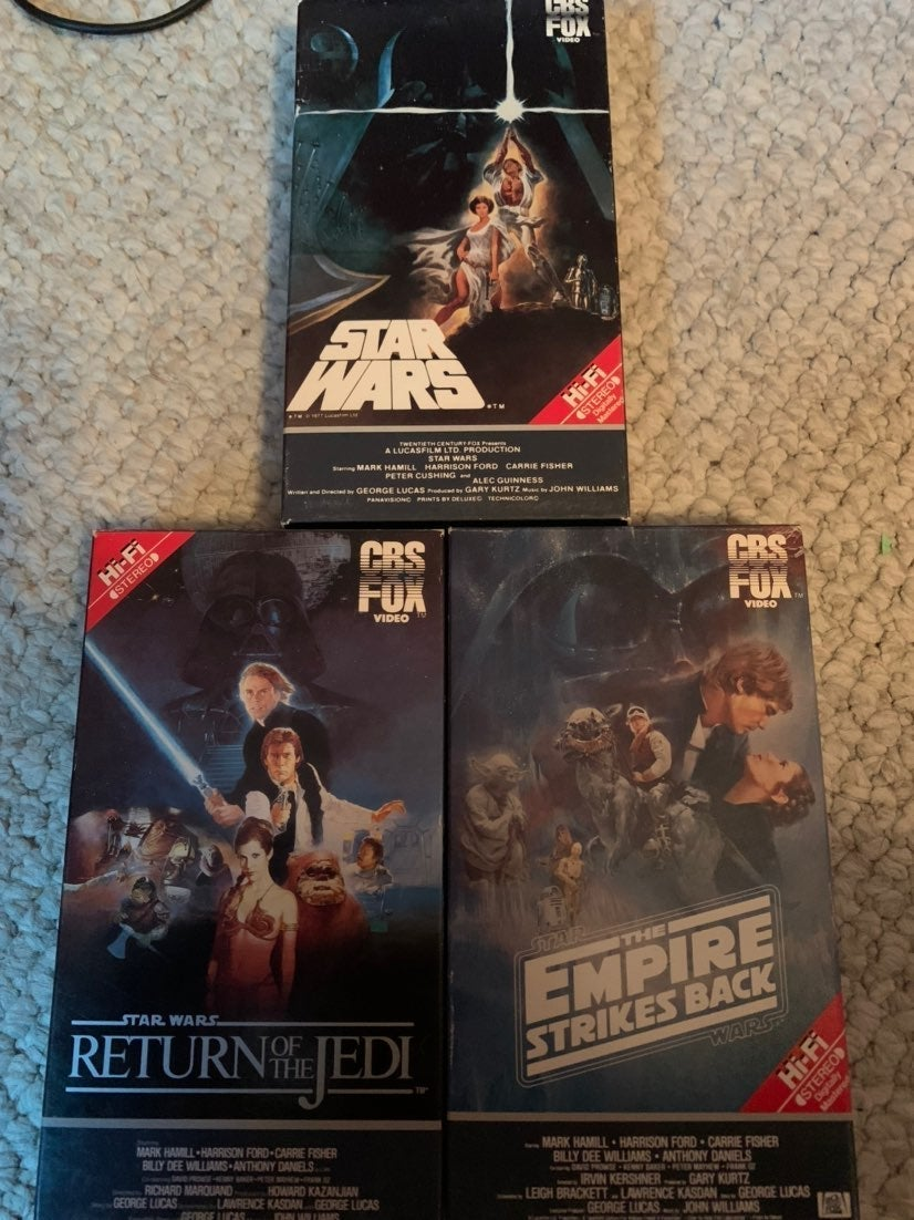 Star Wars vhs original trilogy