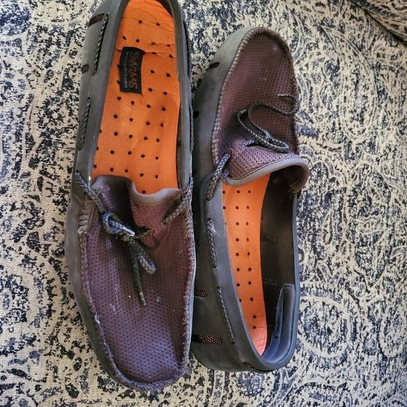 Swims braided lace loafers brown size 10