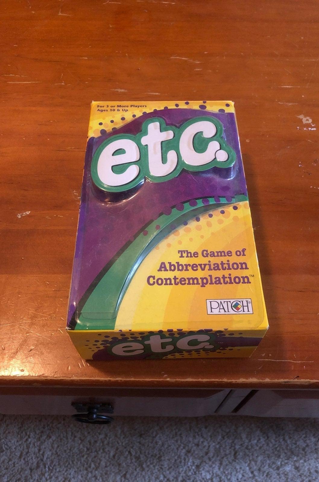 Etc the abbreviation Game