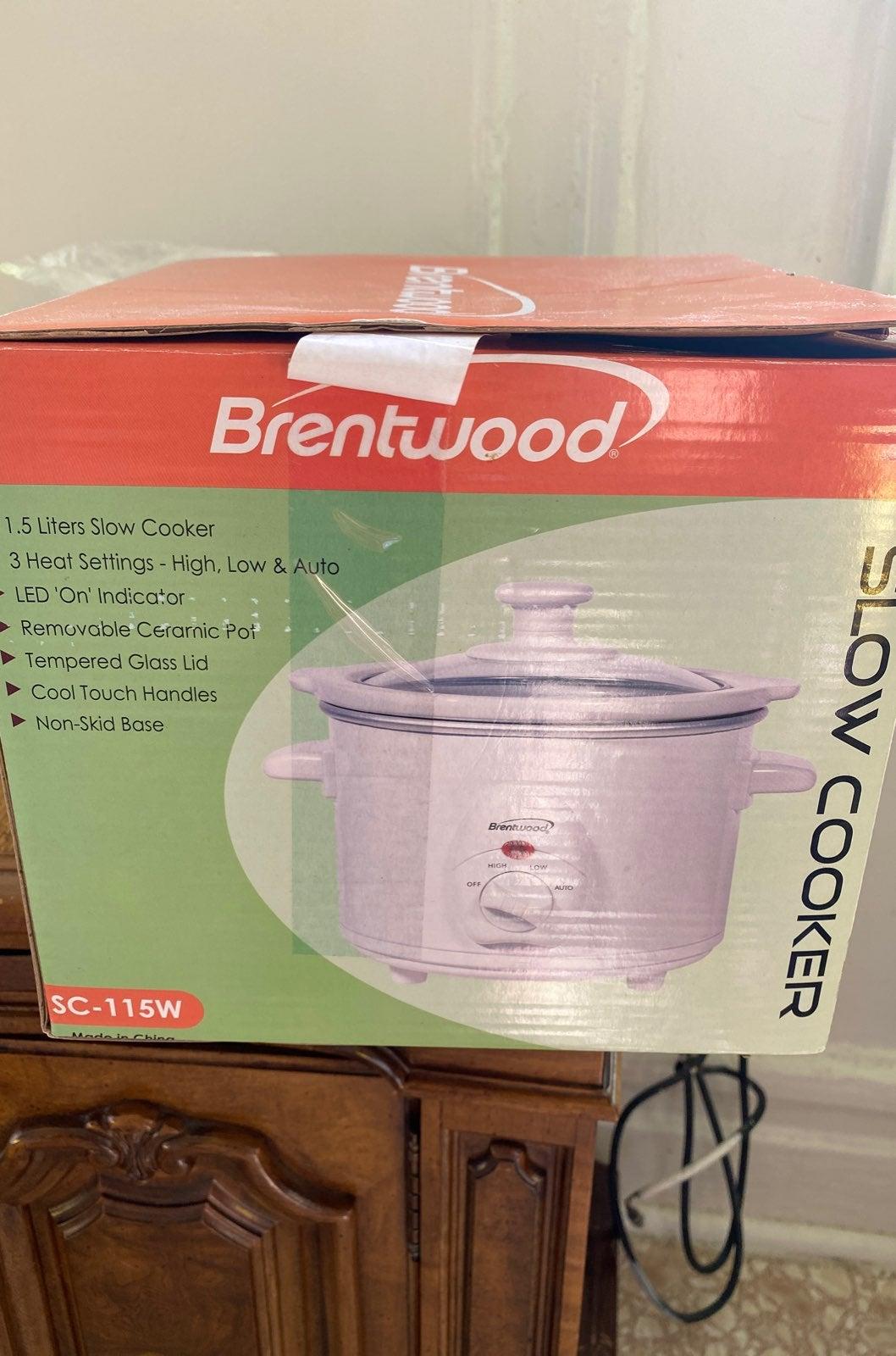 Brentwood 1.5 liter slow cooker