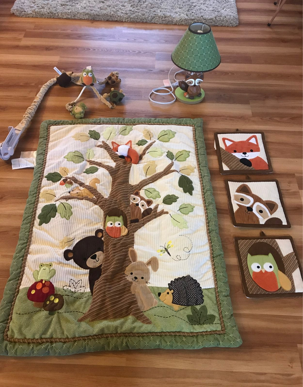 Forest crib/ nursery set RESERVED