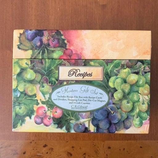 Make offer! Recipe box hostess gift set