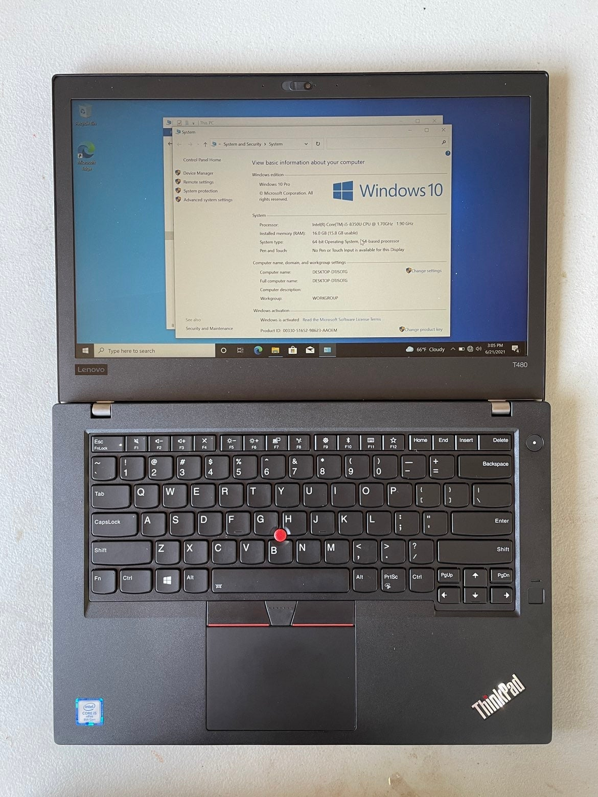 Lenovo ThinkPad T480 | i5 | 16GB | 256GB