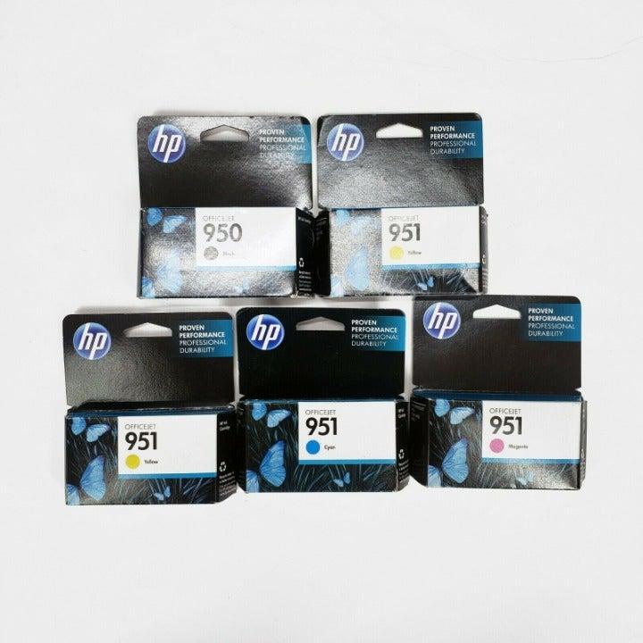5 LOT HP Genuine 950 Black & 951 Colors