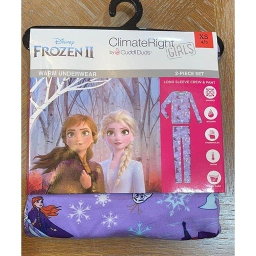 XS 4/5 Frozen Climate Right Cuddl Duds Pajamas