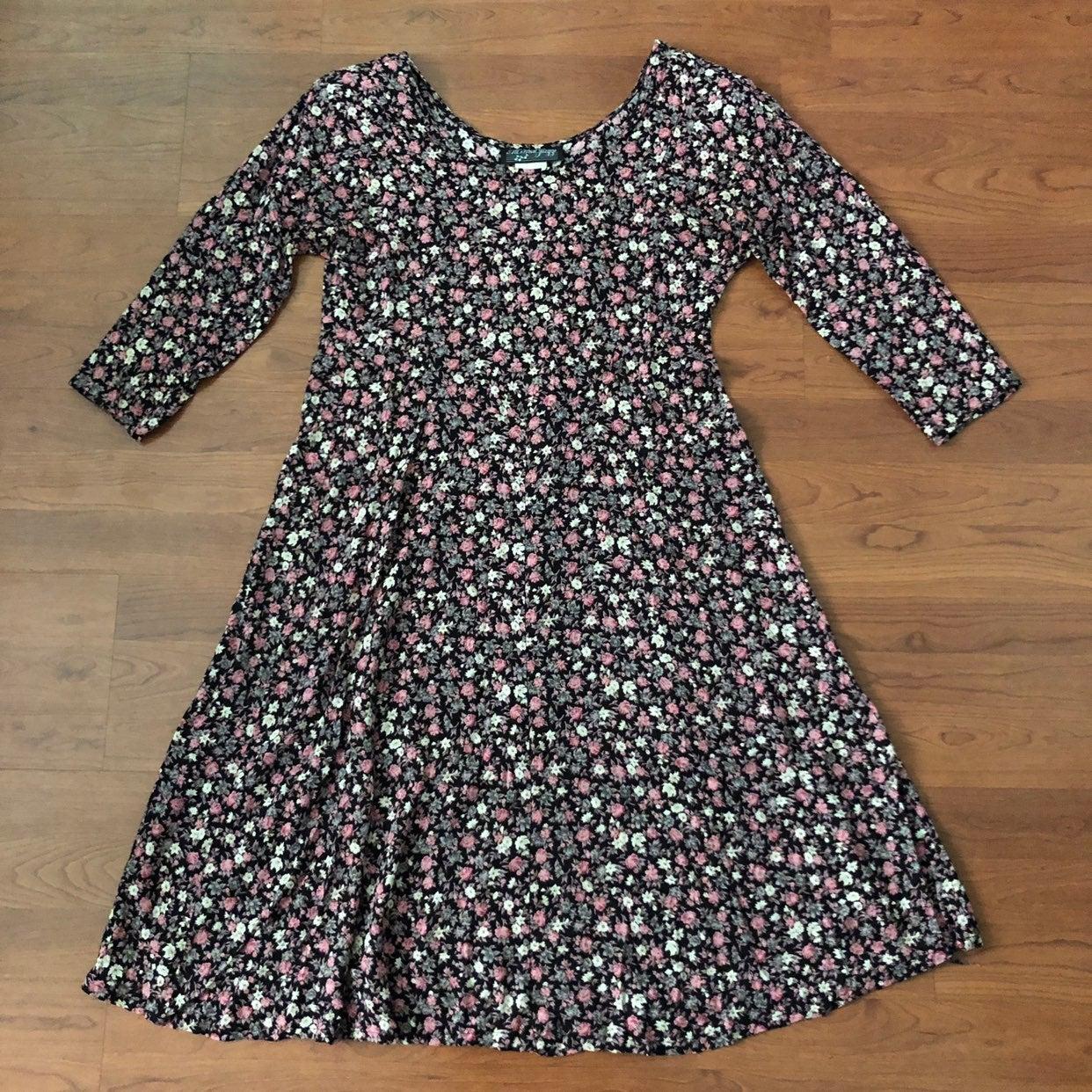 VTG 90sGrunge All That Jazz Floral Dress