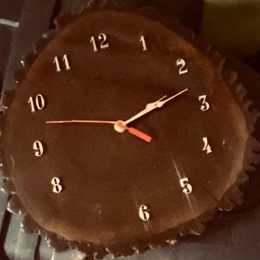 Quartz natural Wood wall clock