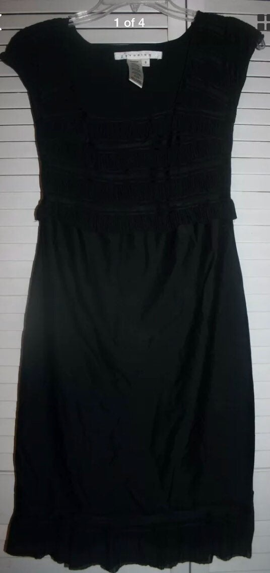 Studio M Black Square Neck Dress~sz. S