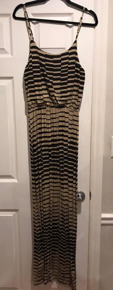 Black And Tan Maxi Dress