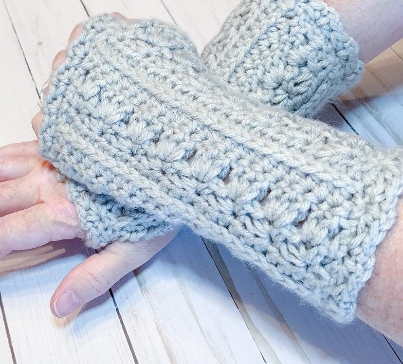 Soft Gray Fingerless Gloves,
