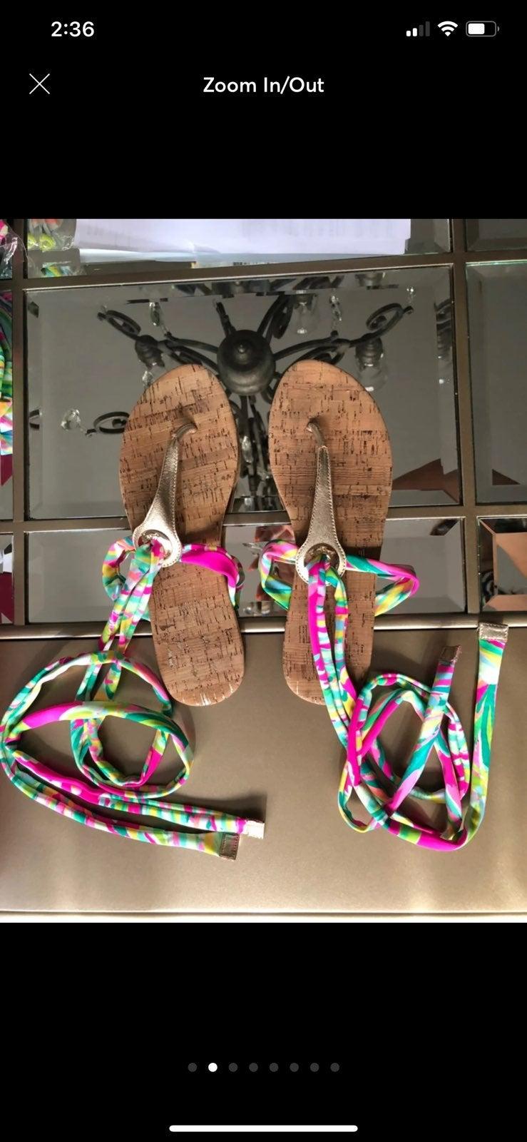 Lilly Pulitzer Size 10 Wrap Sandal