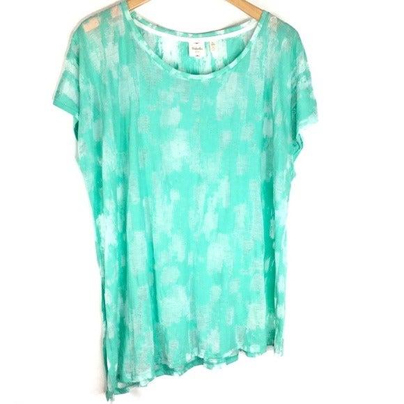 Rafaella Sport Green Burnout T-Shirt XL