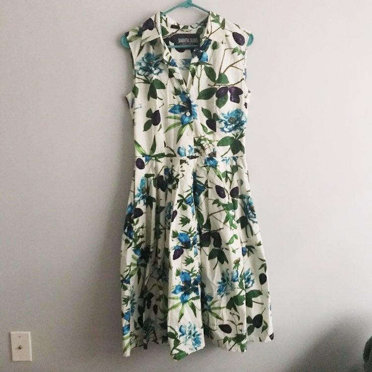 Samantha Sung Claire Floral Shirt Dress