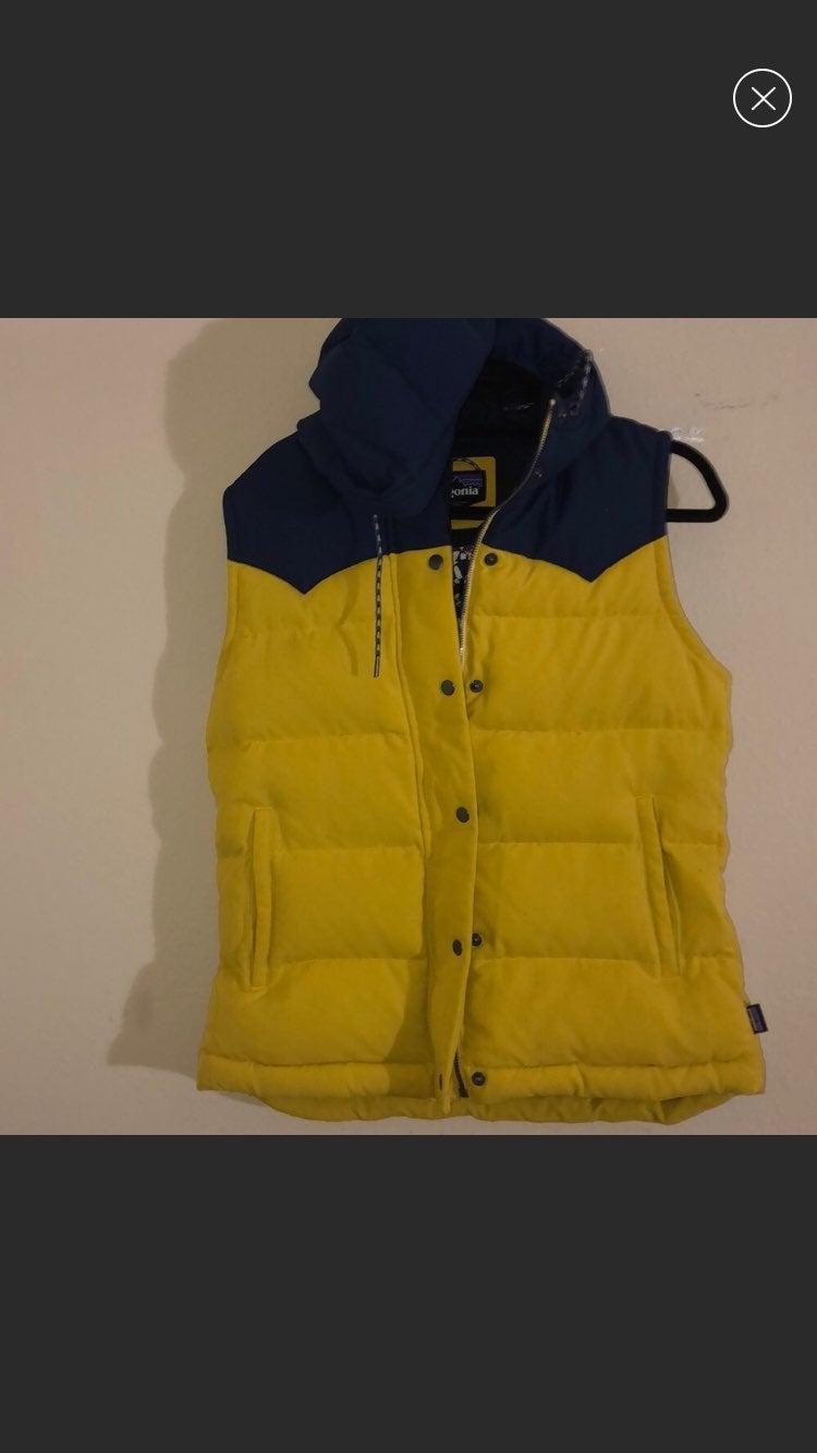 Patagonia bivy down vest #mustard