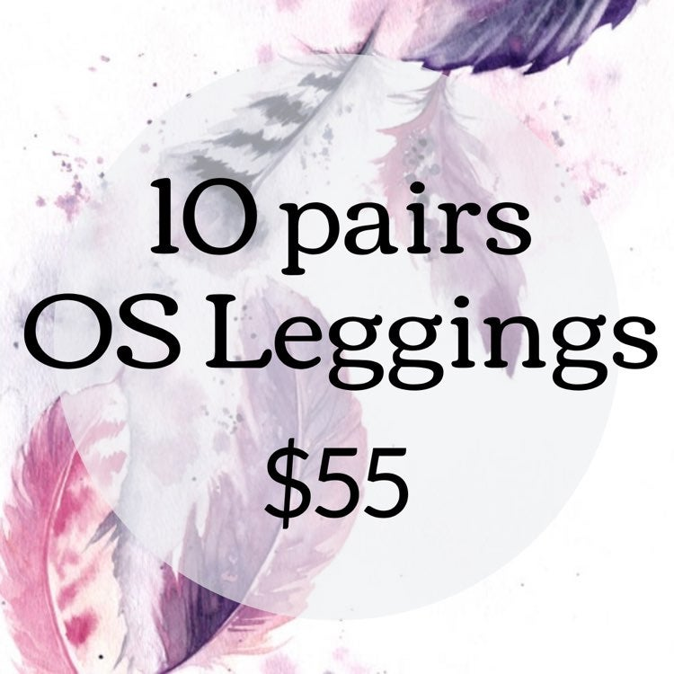 10 pack One Size Leggings