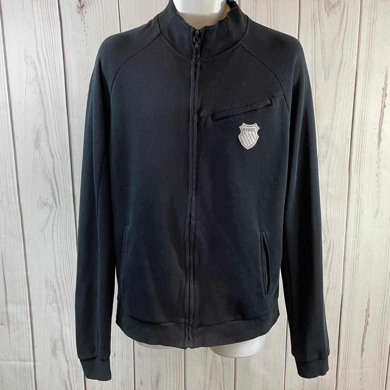 K-Swiss Men's L Black Knit Jacket