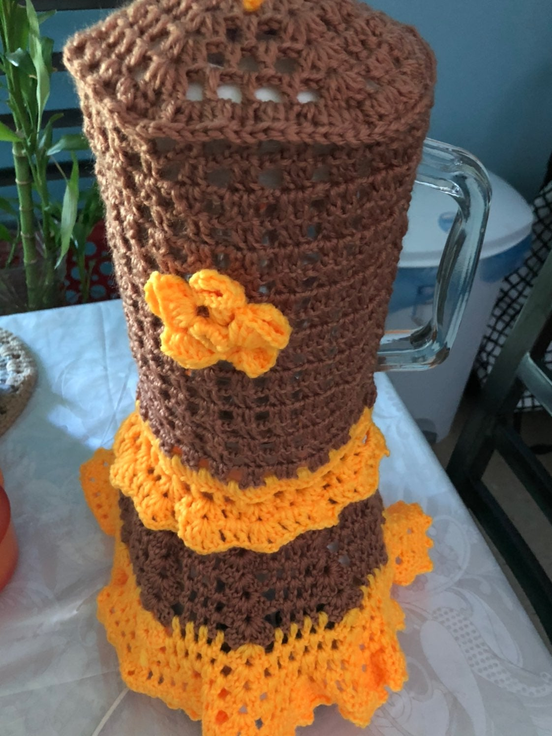 Blender cover crochet