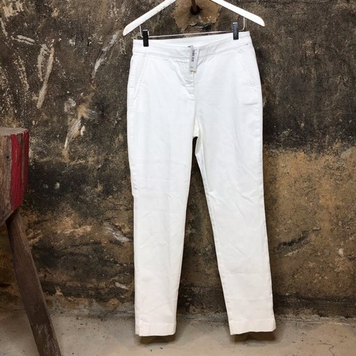 Cremieux cream pants with tapered leg &