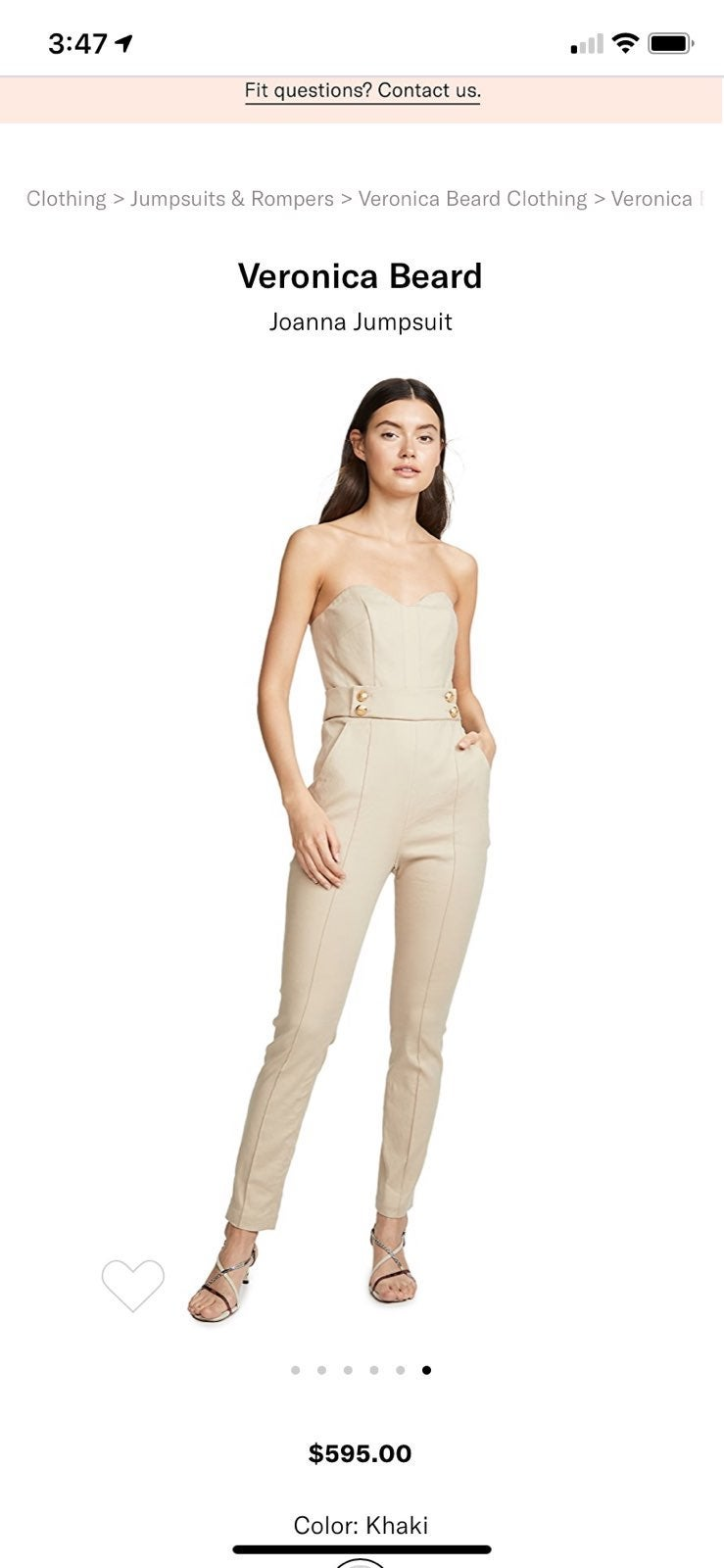 Veronica Beard jumpsuit size 2  $595
