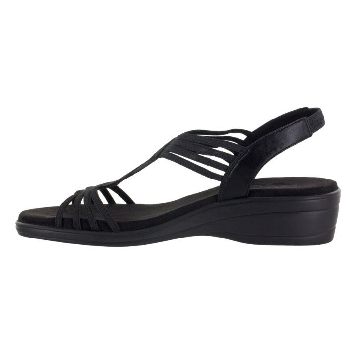 Easy Street NATARA Sandal BLACK Sz 6.5