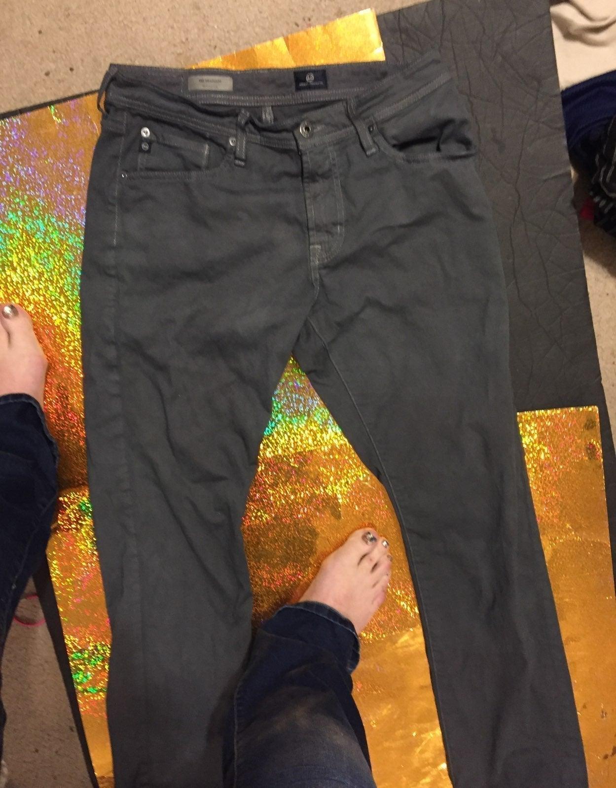 Grey khakis size31/32 adriano goldschmie