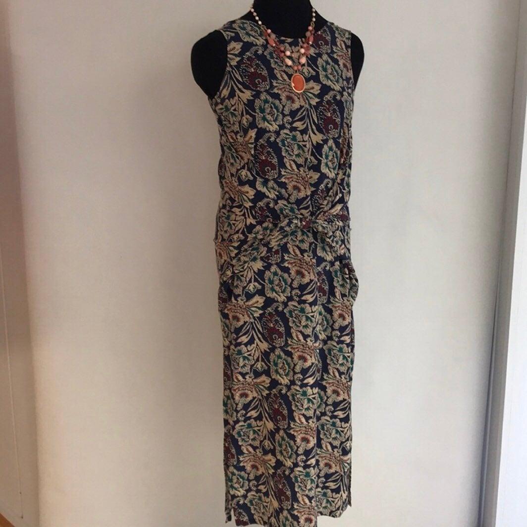 Midi Floral Silk Dress NWOT