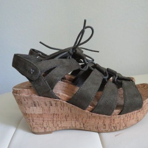 Sonoma Green Wedge Sandals Size  7.5 Med