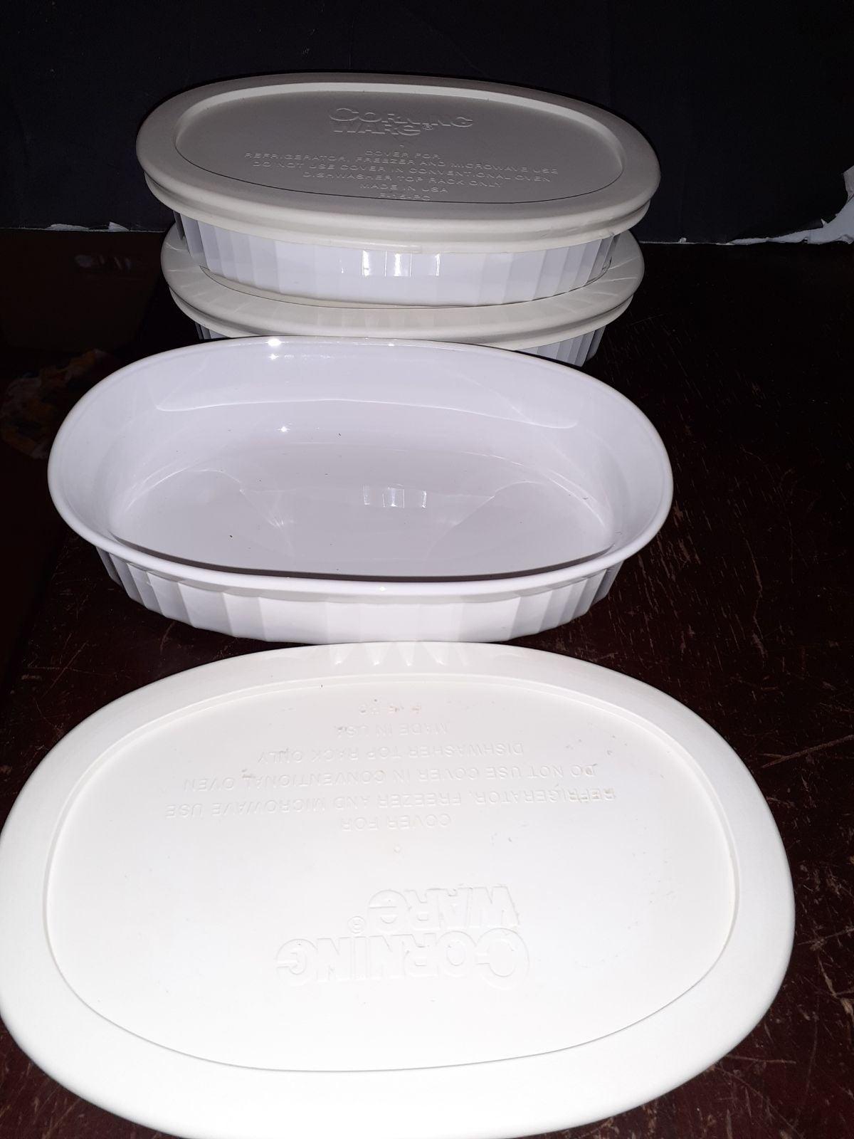 3 CORNINGWARE F-15-B casserole dish Fren
