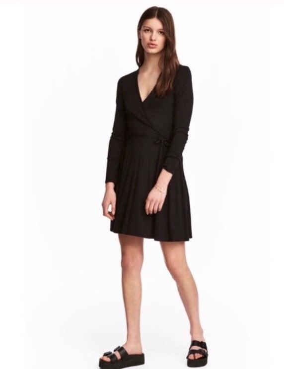 H&M women's jersey wrap dress