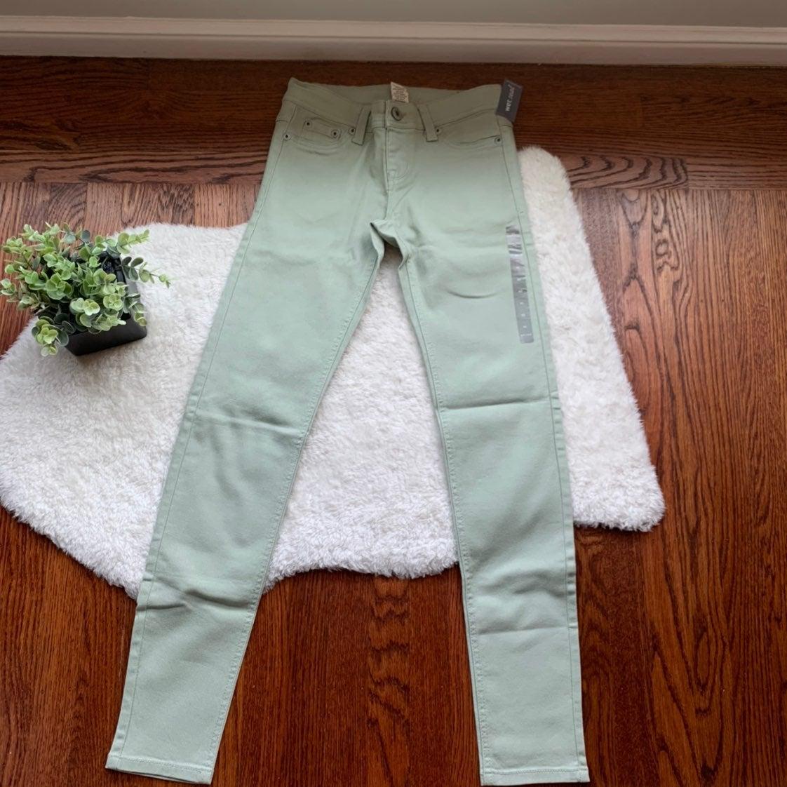 Mint Green Slim Skinny Jeans Denim NWT